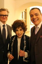 Con il premio Oscar Colin Firth e Gina Lollobrigida ai quali ho consegnato il Premio internazionale Apoxiomeno dedicato a mio cugino Alberto Sordi