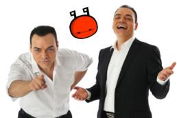 """Igor Righetti e il logo del suo format crossmediale """"Il ComuniCattivo"""""""