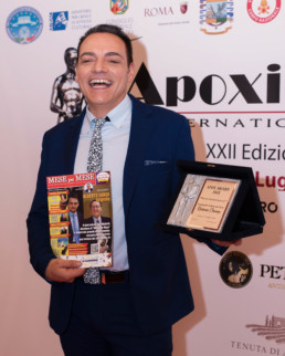All'Apoxiomeno International Award in cui assegno i Premi dedicati ad Alberto Sordi