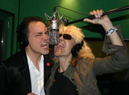 Con Donatella Rettore in sala di incisione per la registrazione del nostro brano Caino boys contenuto nel mio cd MusiCattiva