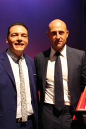 "Con Mark Strong, protagonista di tanti film di successo come ""The Kingsman"""
