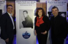 Con Patrizia de Blanck e il fotografo delle star Alessandro Canestrelli
