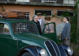 Con Pupi Avati, Alba Rohrwacher e Silvio Orlando durante una scena del film Il papà di Giovanna
