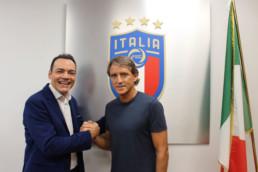 Con Roberto Mancini