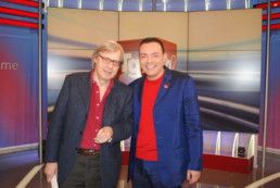 Con Vittorio Sgarbi al ComuniCattivo in Tv all'interno del Tg2
