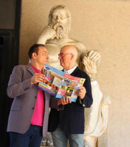 Con il conduttore tv Guido Barlozzetti