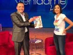 Con la conduttrice tv Caterina Balivo