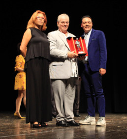 Con la giornalista del Tg2 Francesca Nocerino e il regista-produttore Robert Moresco