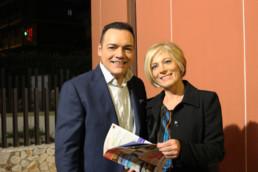 Con la giornalista del Tg2 Maria Concetta Mattei