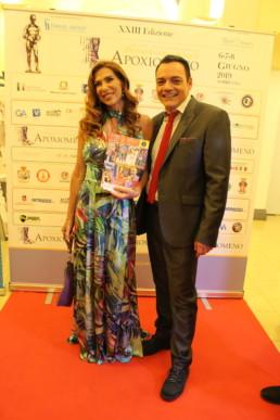 Con la presentatrice tv Veronica Maya