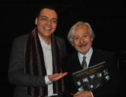 Con l'attore Leo Gullotta