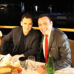 Con l'attore Matt Dillon