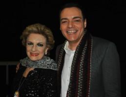 Con l'attrice Fioretta Mari