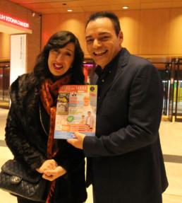 Con l'imitatrice Emanuela Aureli