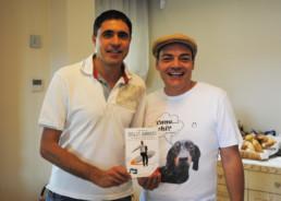 Con l'inviato di Striscia la Notizia, Moreno Morello